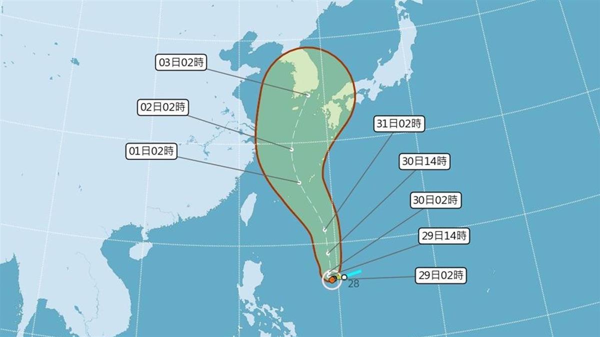 颱風梅莎緩慢移動 預估下半天增強為中颱