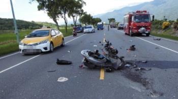 6旬婦機車突詭異打滑 失控衝向油罐車遭撞飛慘死