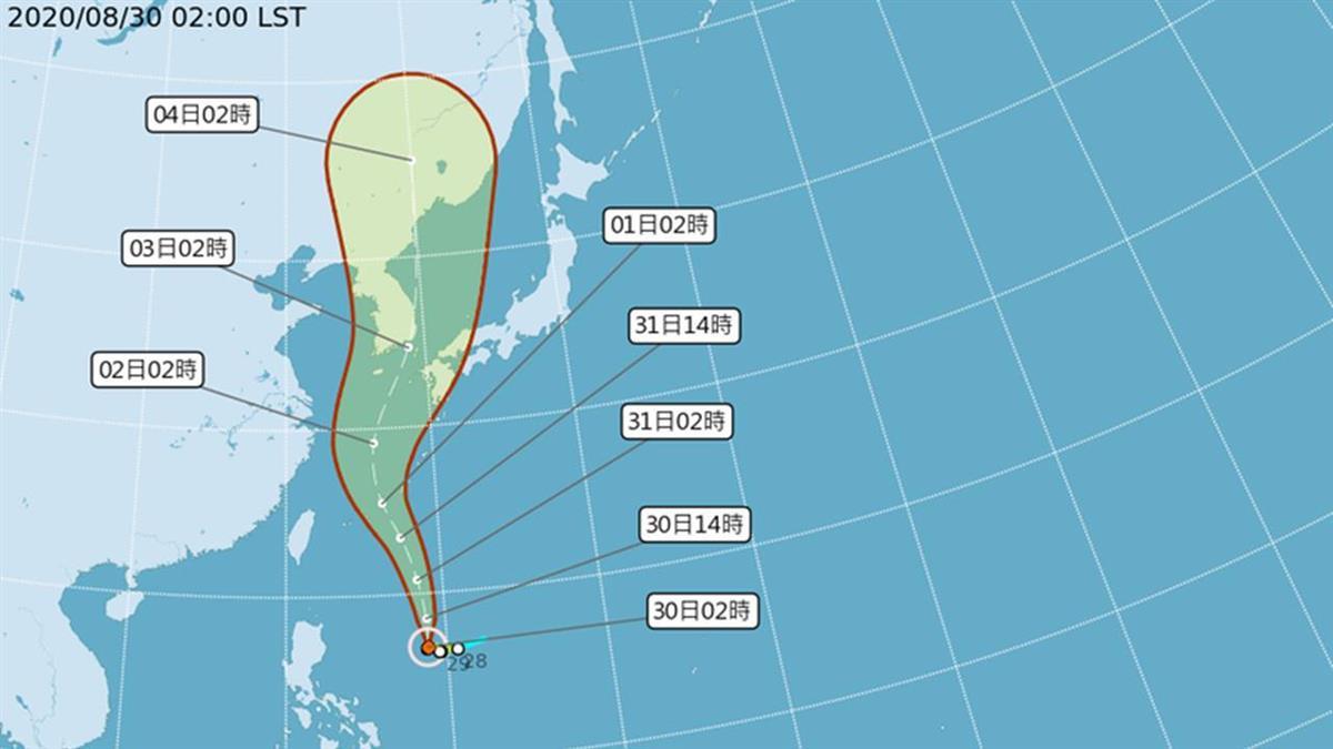 中颱梅莎持續增強!明後2天距台最近 降雨熱區出爐