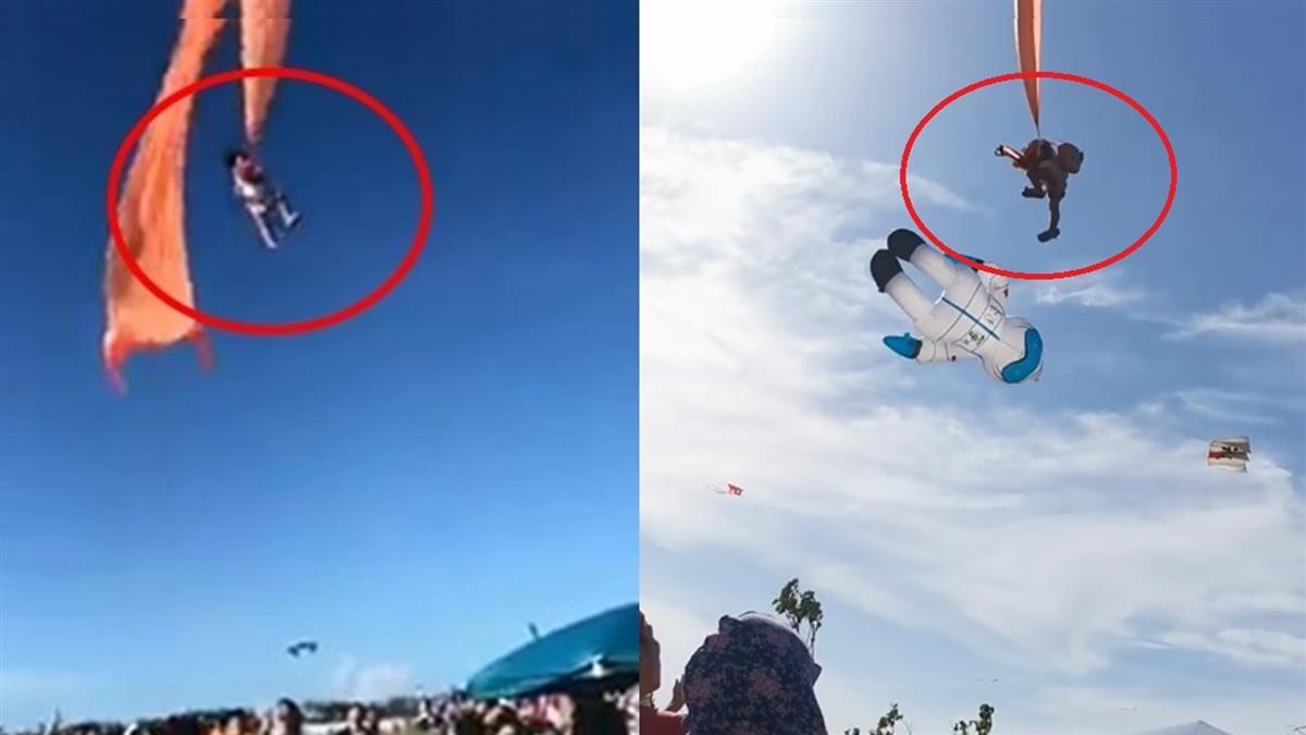 悚!新竹女童遭風箏纏脖子 捲上3樓高天空片瘋傳
