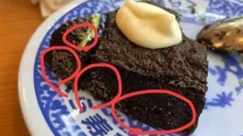 驚恐!壽司店吃到發霉蛋糕?店家回應:糖霜