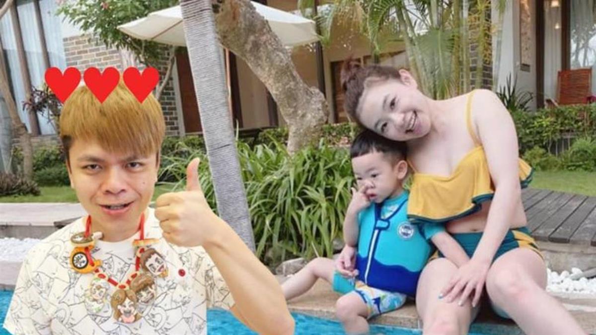 台灣第二美曬超狂比基尼 蔡阿嘎妻獲2萬讚卻「嗚嗚嗚」哭慘