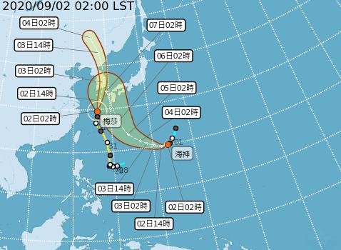 雙颱共舞!海神周末最近台恐變中颱 這天起連甩雨彈2天