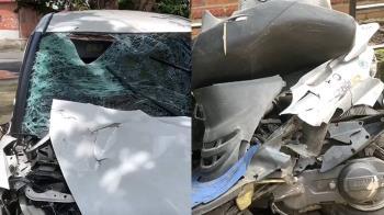 差30公尺到家!雙載機車遭撞飛 媽慘死、3歲女全身傷