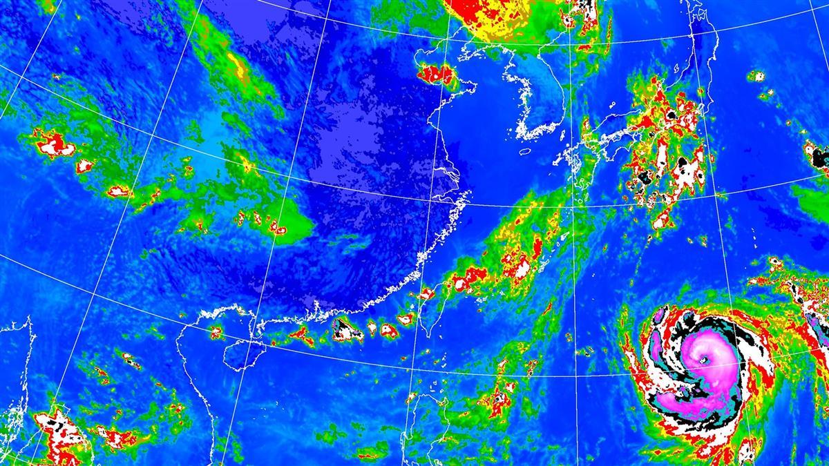 雲圖驚見5個對流胞排隊 鄭明典曝北台灣暴雨原因
