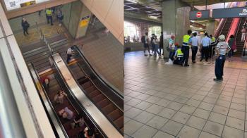 淡水捷運傳手扶梯吃人意外!6歲童遭捲入送醫搶救