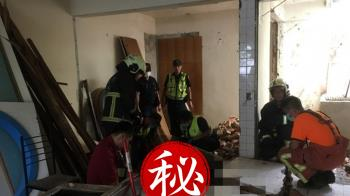 快訊/舊公寓施工牆面倒塌!富邦悍將林威廷父遭重壓慘死