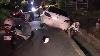 警狂追20公里開槍 通緝犯自撞電桿受困被逮