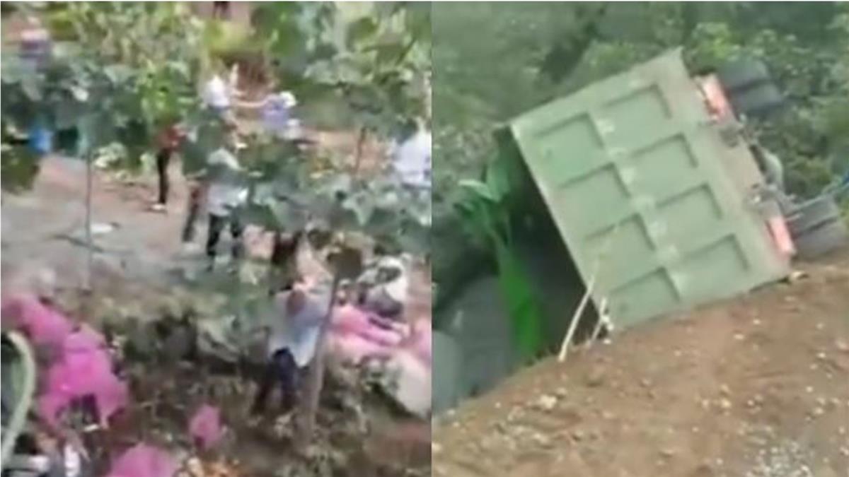 貨車翻覆大蒜掉滿地!民眾瘋搶遭車輾斃  8人慘死11傷