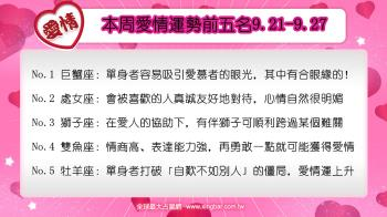 12星座本周愛情吉日吉時(9.21-9.27)