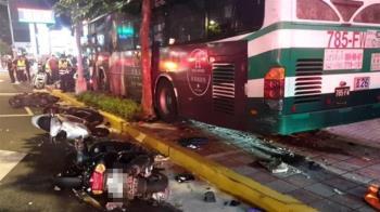 內湖公車衝人行道1死1傷 北市:駕駛未充足休息