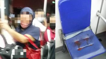 女學生搭公車被亂摸!起身驚見座椅一片紅嚇壞 全車看傻