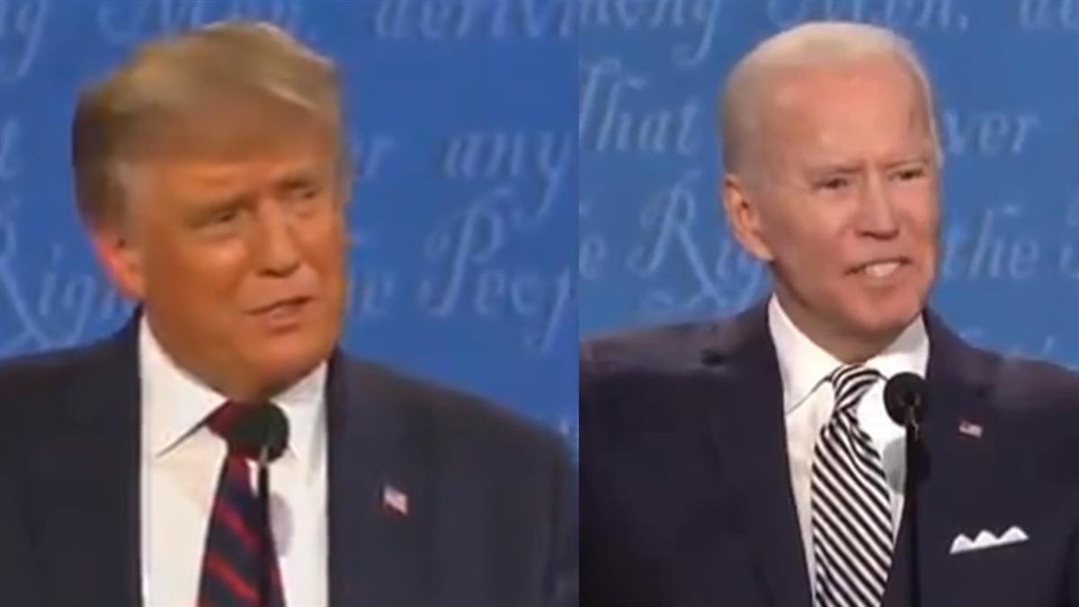 美選辯論20分鐘就吵翻!川普狂插嘴 拜登爆氣嗆:閉嘴