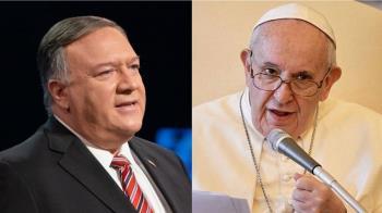 蓬佩奧呼籲教宗鼓起勇氣 對中國採堅定立場