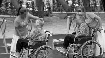 看護扯髮捏大腿!輪椅嬤發抖求尿尿 家屬看到PO文才知道