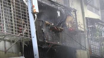 中秋節清晨遇大火 92歲婦倒臥陽台送醫不治