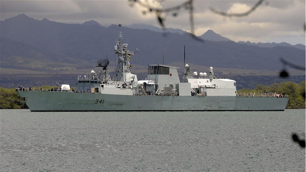 加拿大籍護衛艦  航經台灣海峽