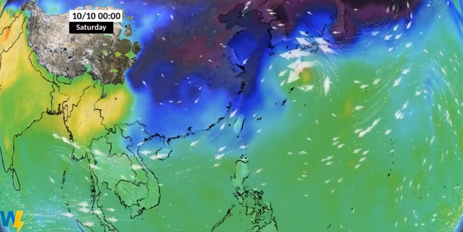 北台灣濕涼整周!昌鴻颱風恐影響國慶連假 最新路徑出爐