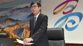 陳其邁首次施政報告 多團體議場外陳情抗議