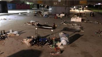 中秋河濱公園清出60噸垃圾 明年北市烤肉區恐縮減