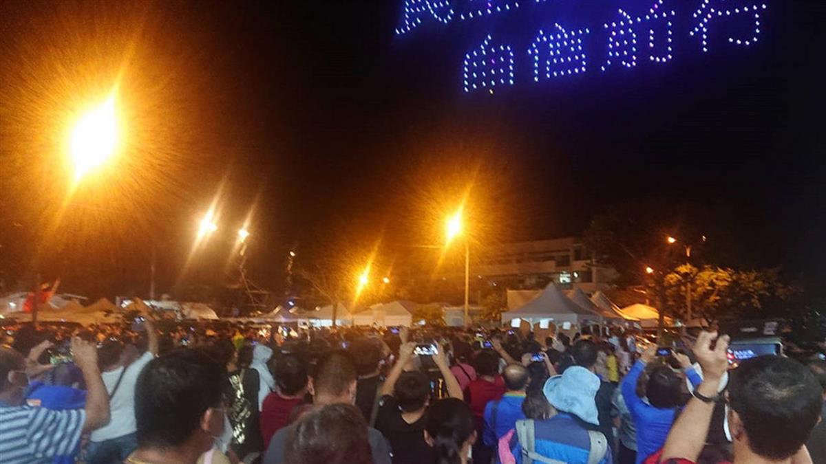 台南國慶焰火登場!超過36萬人湧安平 周邊道路全塞爆