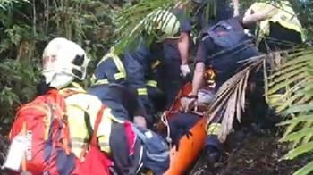 快訊/天雨路滑!烏來騎單車摔40米邊坡 騎士受傷送醫