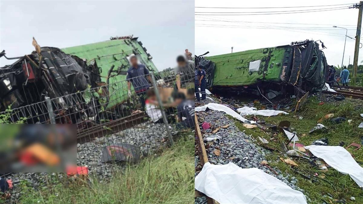 巴士與火車相撞!車頭全毀翻覆 至少17死29傷