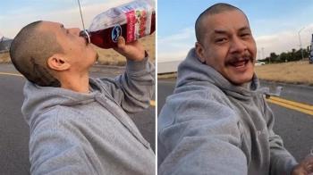 上班沿路「溜滑板喝蔓越莓汁」! 大叔22秒片狂賺57萬+1台車