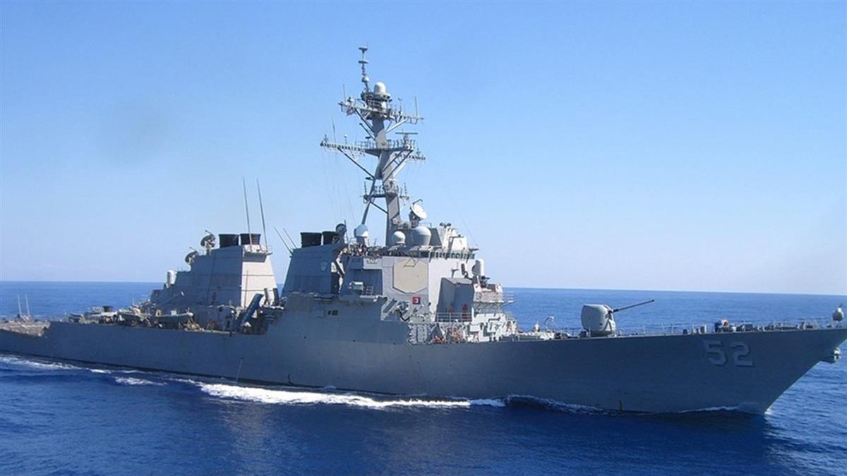 今年第10次!美軍飛彈驅逐艦貝瑞號通過台灣海峽