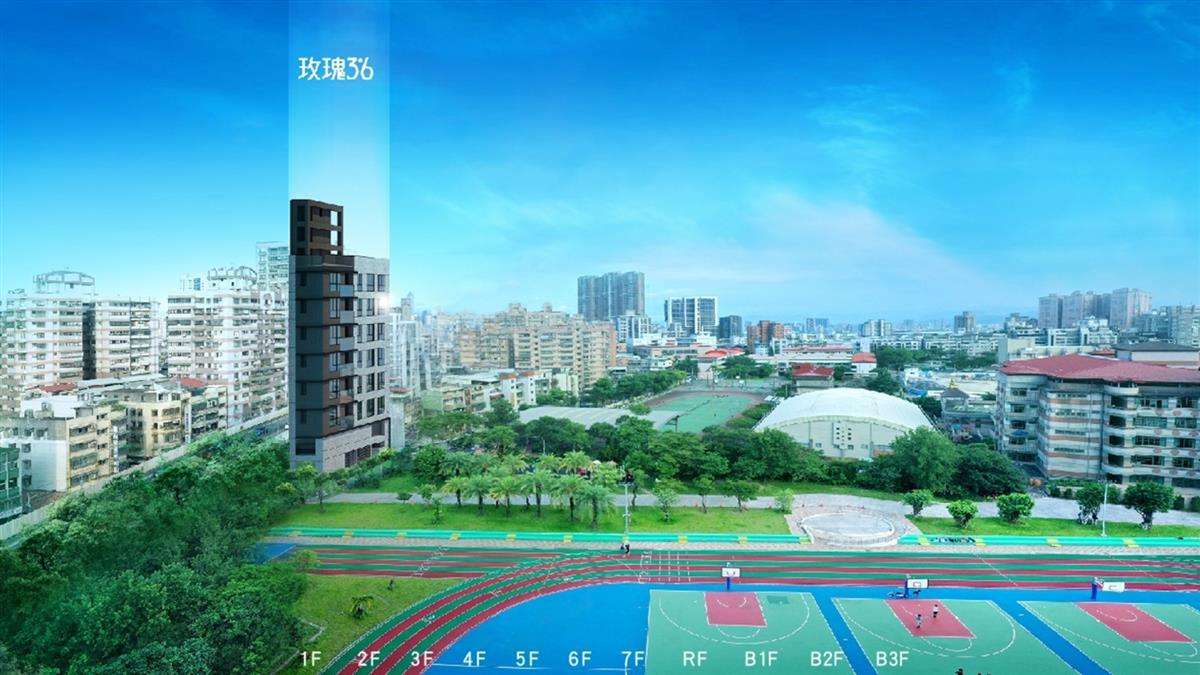 中遠建築隆重推出玫瑰3米6  坐落新北三重緊鄰捷運及挑高景觀綠住所