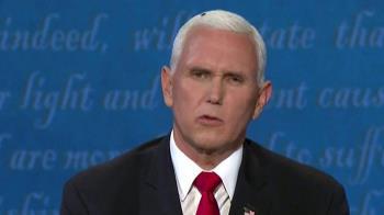 美國大選:彭斯頭頂上的一隻蒼蠅成熱話