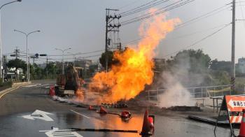 快訊/台南新市傳挖斷瓦斯管線 爆炸現火光2人傷