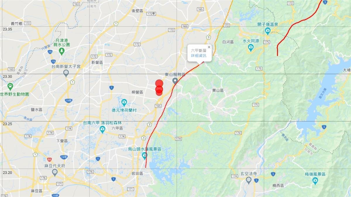 台南一晚連3震警訊!學者揭關鍵示警:恐影響六甲斷層
