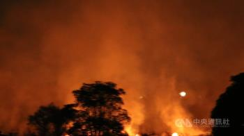 高屏溪河床大火延燒 恐破壞黑面琵鷺棲地