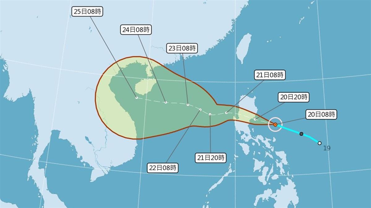 颱風沙德爾不排除成中颱 明天雨最大影響3地區
