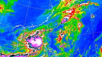 快訊/沙德爾轉中颱!對流增強 北北基豪雨狂炸