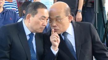 「來!坐我旁邊啦」 蘇貞昌狂讚侯友宜「會大力支持他」