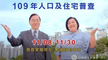 人口普查11月起跑!動員1.6萬人家訪 也可上網填報