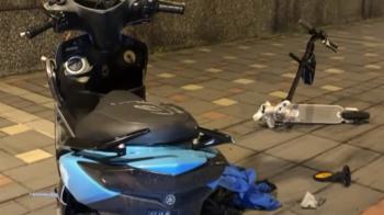 驚悚畫面曝!北市男騎電動滑板車撞機車 釀一死一重傷