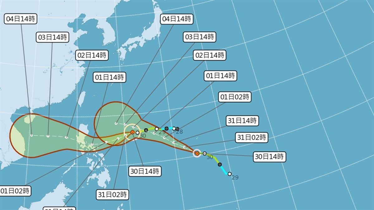 天鵝變強颱不直接影響台灣  密切觀察輕颱閃電