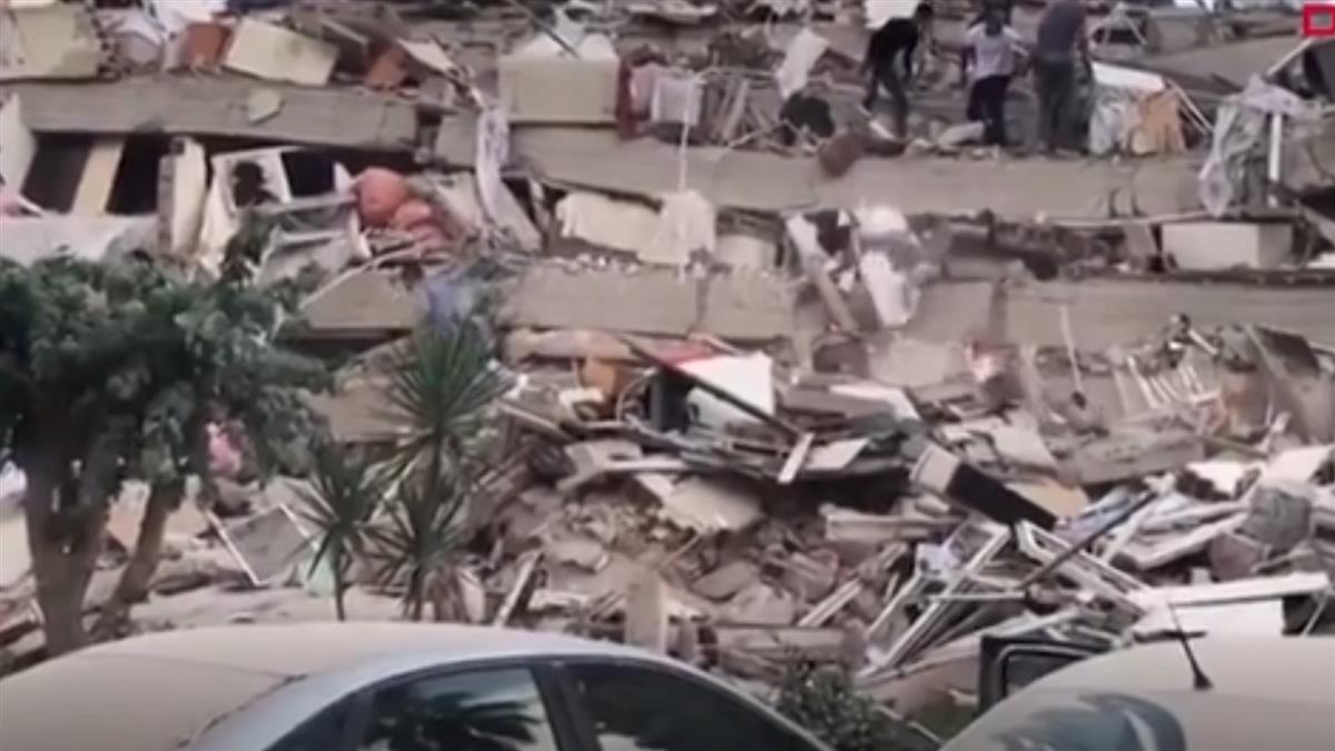 7.0強震突襲愛琴海地區!房屋傾倒如積木 驚悚畫面曝