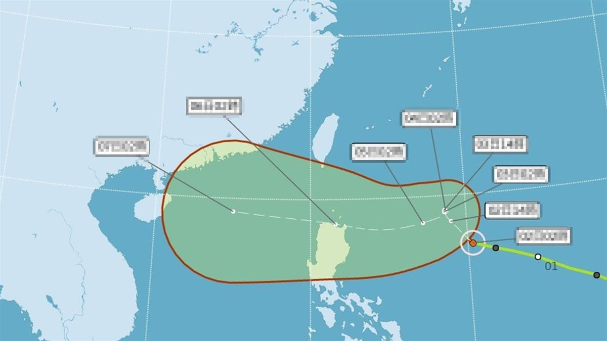 颱風最新路徑出爐!這天起雨連炸3天 全台降雨熱區出爐
