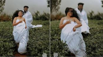 婚紗照遭譏「保險套廣告」 新人堅持不撤照:否則就輸了