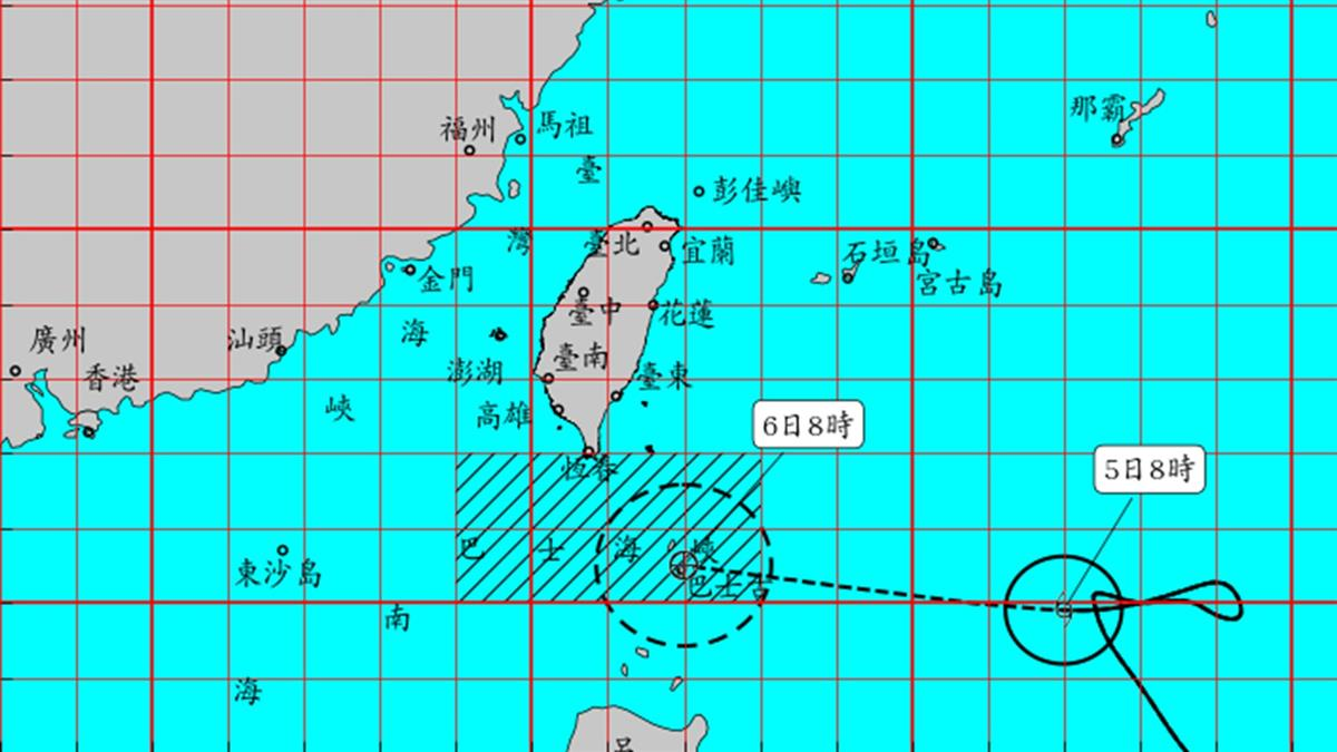 今晚變天!閃電颱風北偏下午開始影響 不排除發陸警
