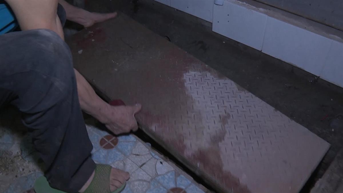 獨/浴室排水孔汙水冒出 控1樓施工害水管回堵