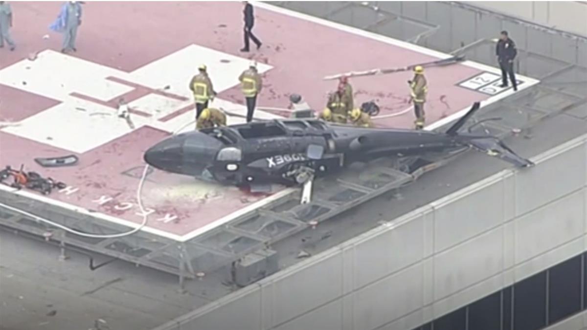 直升機墜落!醫護搶救「移植心臟」慘摔 整箱飛噴滑出