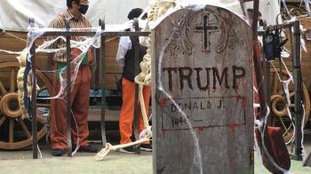台灣遊樂園驚見「川普之墓」 川粉氣炸:沒水準