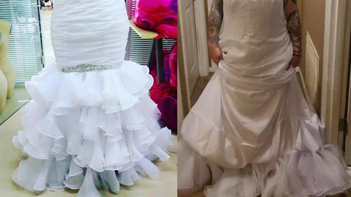 網購絕美魚尾婚紗!她一穿上變白色垃圾袋 客訴後糗炸