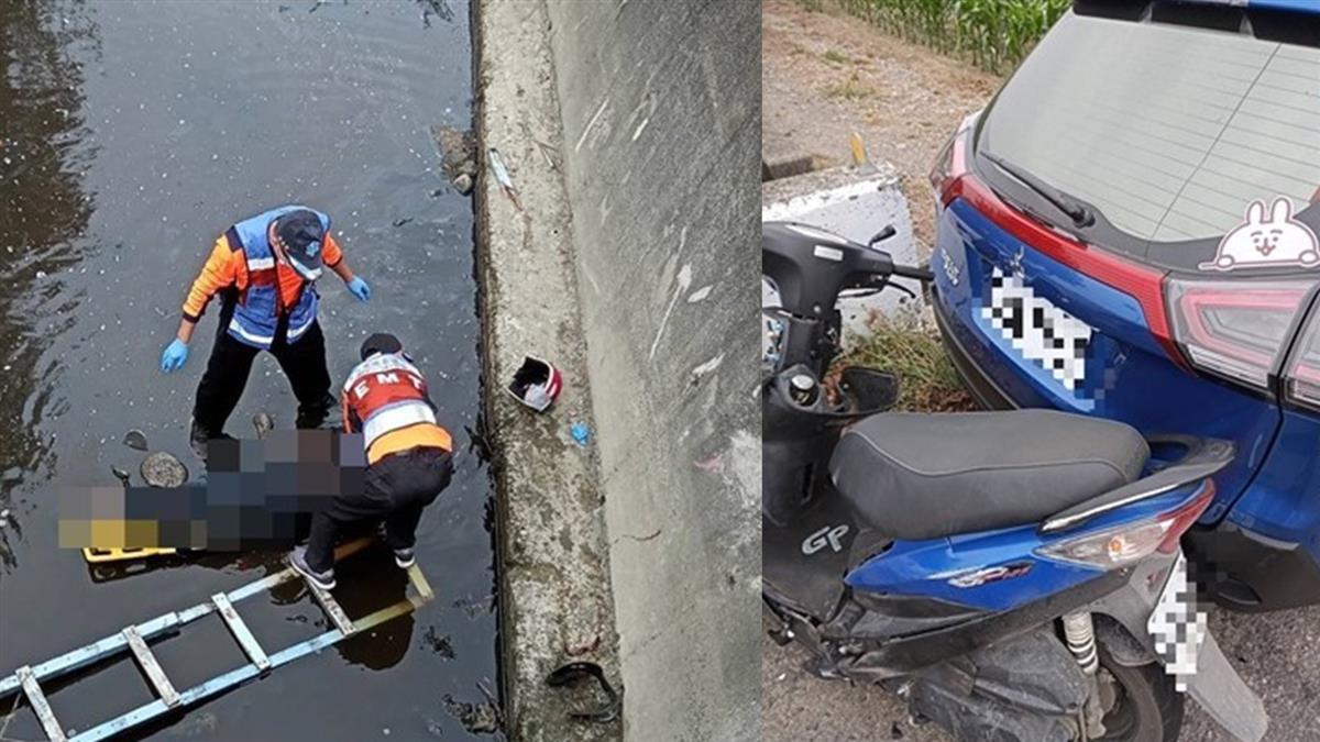 返家慘死!台南女騎士撞休旅車噴飛 墜4m大排死亡