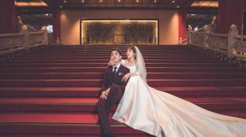 「最美空姐」潘嘉麗嫁給老闆 重回定情地圓山大飯店拍婚紗